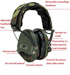 Tactical MSA Airsoft Sordin Headphone Outdoor Hunting Electronic Hearing Protection Noise Reduction Shooting Tactical Headphone