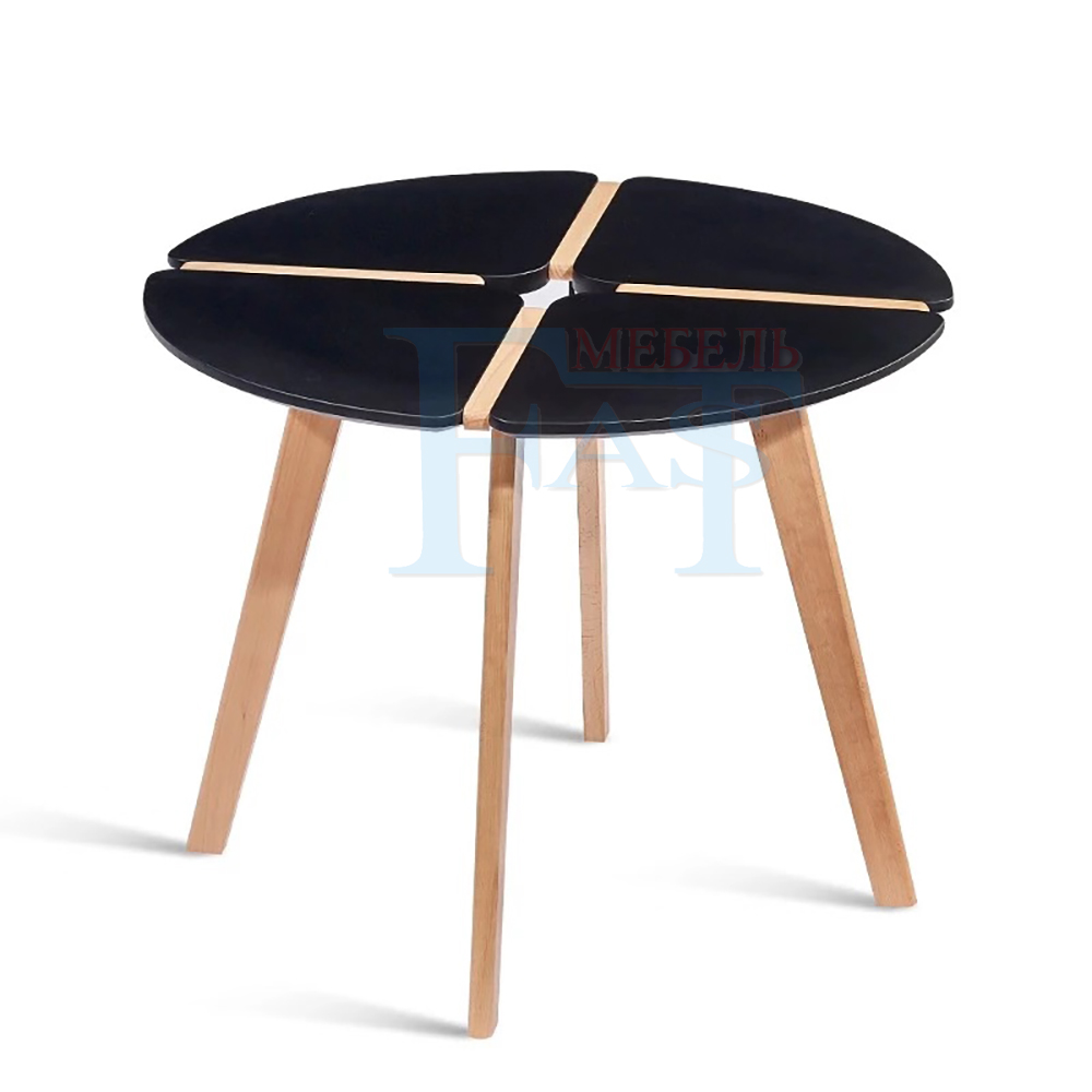 Dining Table Black Paint Table On Beech Legs New Design Kitchen Table Round Table Modern Table Diameter 90cm
