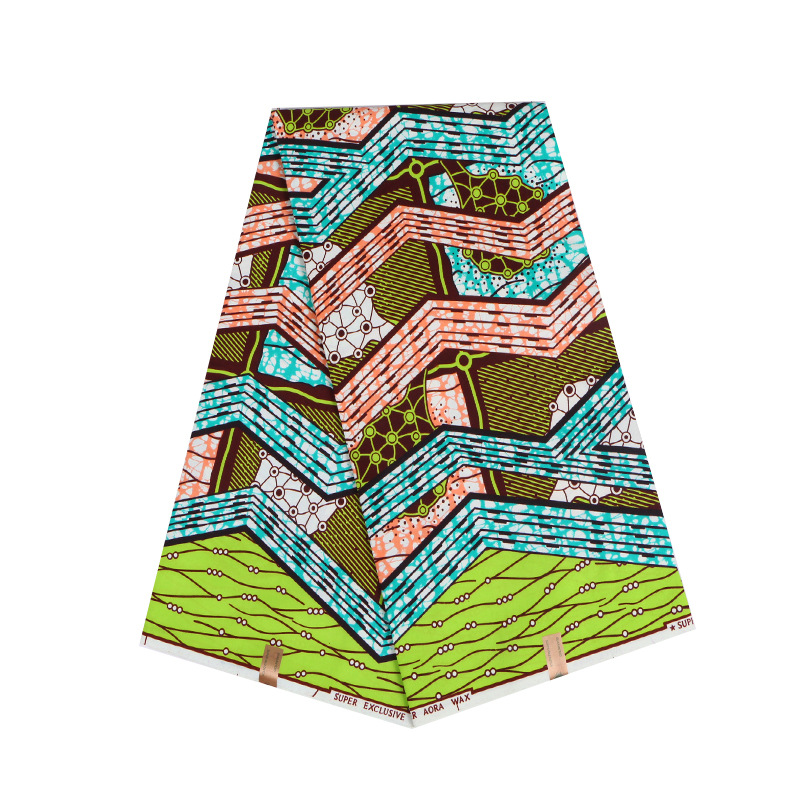 2019 Real Dutch Wax African Fabric Colourful Print Fabric Ankara Real Dutch Wax 6Yard