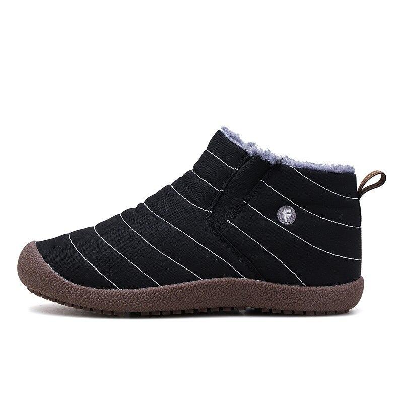 Plus velvet warm snow boots men's winter large size short tube northeast couple cotton shoes waterproof outdoor outdoor cotton