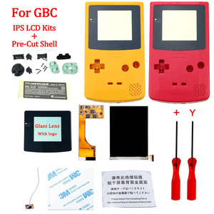 Full Screen GBC IPS LCD Backlight With Pre-cut Shell for Gameboy Color ips backlight LCD screen with housing shell case for GBC(China)