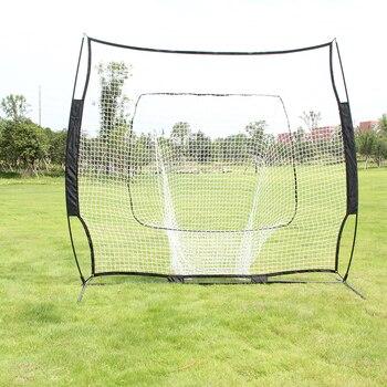 Baseball Train Net Rack Rebound Goal Black Baseball Hitting,Fielding Pitching Training Door Holder Portable Baseball Sport Rack