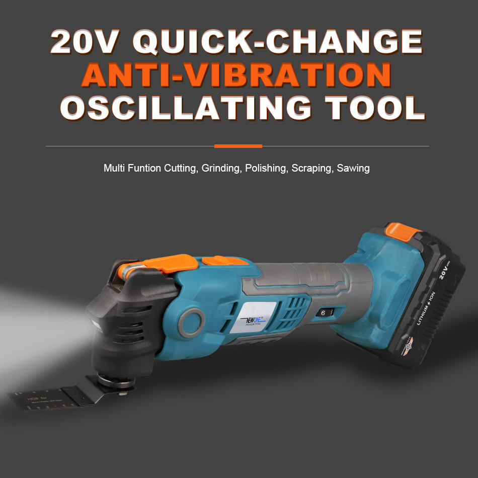Li Vibration Design Ion Release Quick Patented Anti Quickchange NEWONE 20V Renovator Trimmer Oscillating Electric Tool Cordless