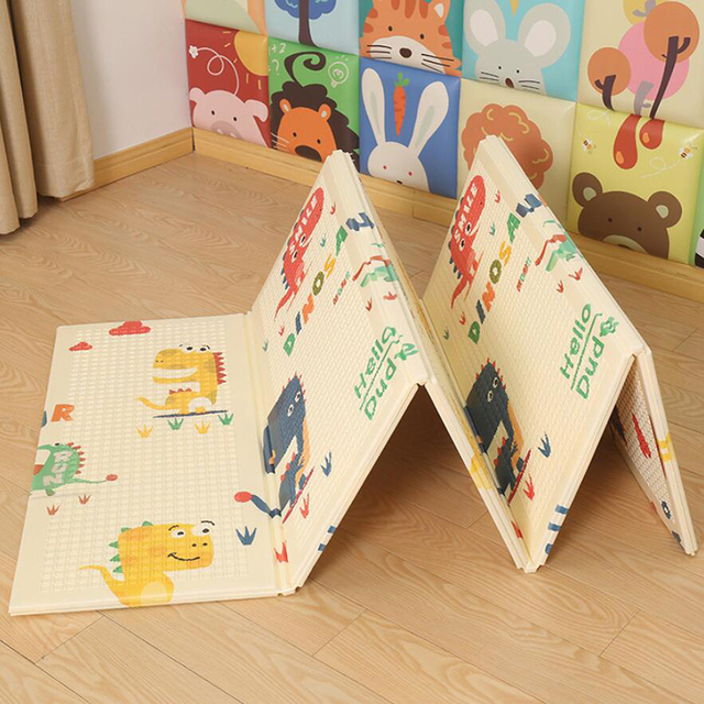 XPE Crawling Mat 1CM Thick Foldable Baby Play Mat Climbing Toy Crawling Pad Outdoor Indoor Soft Floor Activity Gym Kids Rug