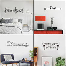 Wall Stickers Hot Removable Kitchen Rules Words Wall Stickers Decal Home Decor Vinyl Art Mural Home room wall decoration sticker(China)