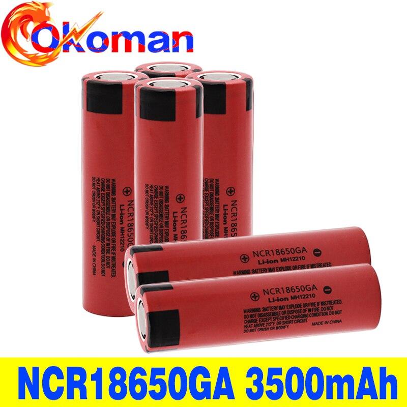 Оригинальный NCR 18650GA 30A разрядка 3,7 V 3500mAh 18650 аккумуляторная батарея для игрушечного фонарика Плоская верхняя литиевая батарея