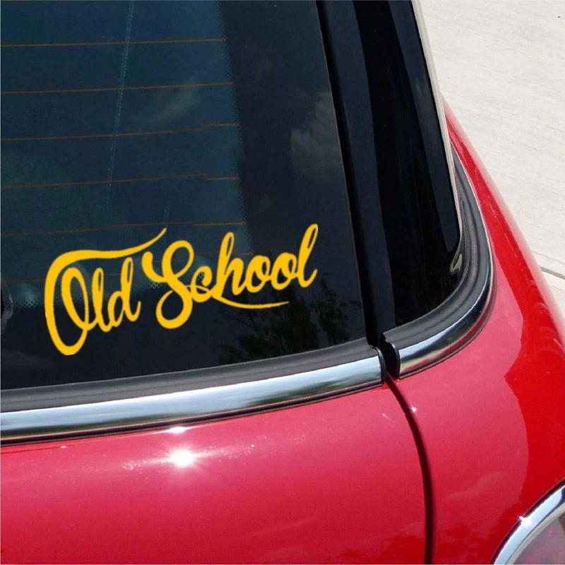 Old School funny vinyl car sticker waterproof car decal stickers on car truck bumper rear window laptop