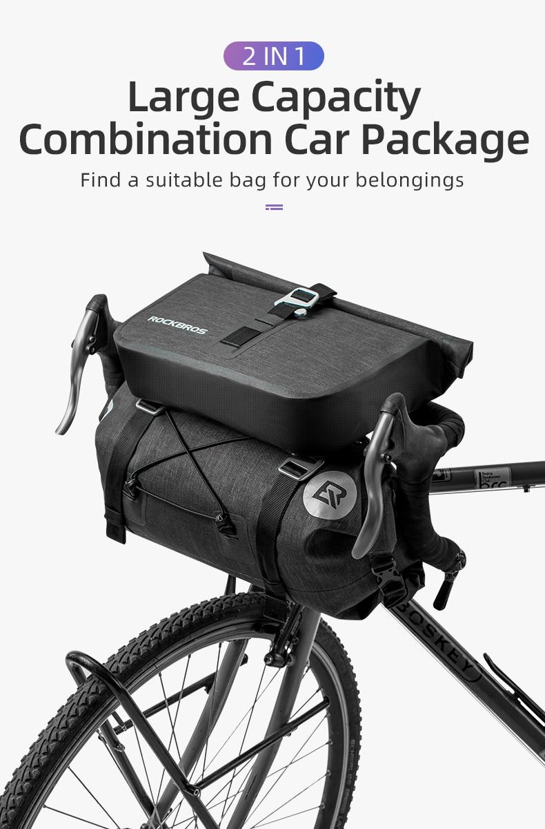 Details about  /Bicycle Bag Big Capacity Waterproof Front Tube Cycling Bag MTB Handlebar Bag NEW