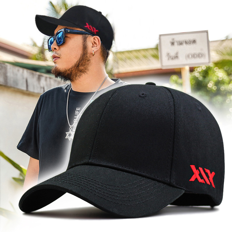 62-68cm Large Head Man Big Size Causal Peaked Hats Cool Hip Hop Hat Man Plus Size Baseball Caps