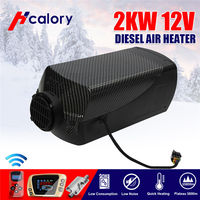 HCalory  12V 2kw Diesels Air Parking Heater Air Heating LCD Switch with Silencer and Remote For Trucks Boats Car Trailer Heater|Aquecimento e ventiladores| |  -