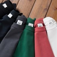 300G Katoen Mannen Zware Gewicht T-shirt Koreaanse Mode Eenvoudige Effen Kleur Korte Mouw Voor Mannelijke Top Nieuwe Zomer unisex Casual Tees