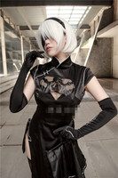 Anime cosplay dress NieR Automata 2b Cheongsam No.2 dress black costumes women sexy clothes A