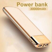 30000 мАч Внешний аккумулятор, внешний аккумулятор, USB светодиодный внешний аккумулятор, портативное зарядное устройство для мобильного телефона, для Xiaomi Mi, iphone, samsung