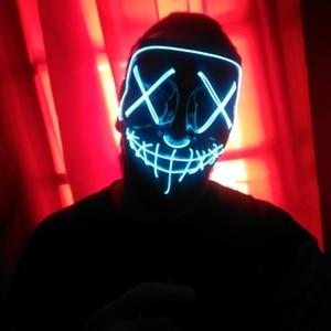 Image 5 - Halloween LED Mask Purge Masks Election Party Mask Light Up Masks Glow In Dark Neon Mask