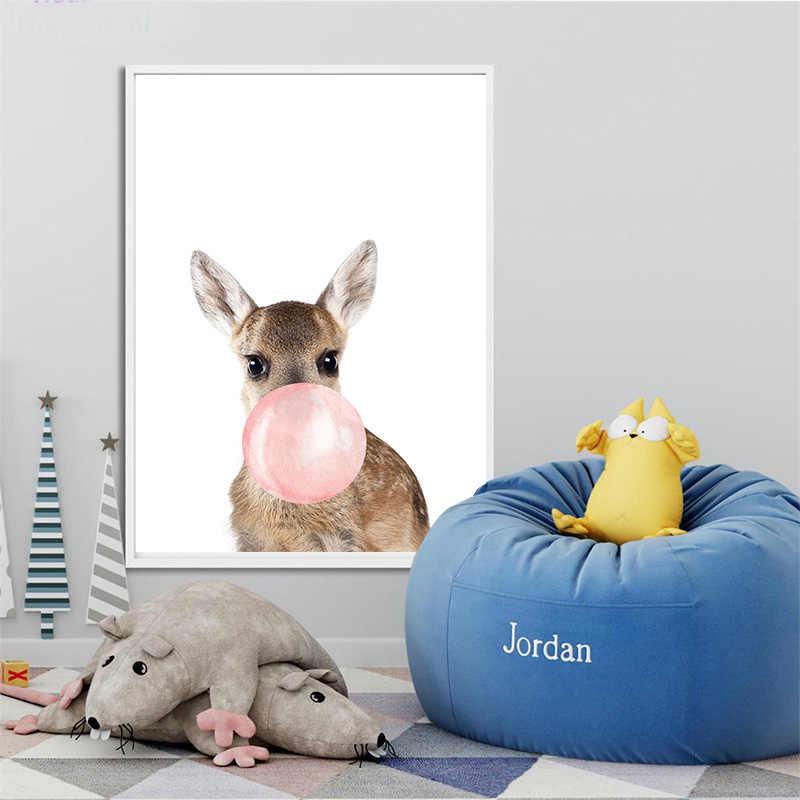 Baby Animal Zebra Girafe Canvas Poster Nursery Wall Art Print Painting Nordic Picture Children Bedroom Decoration
