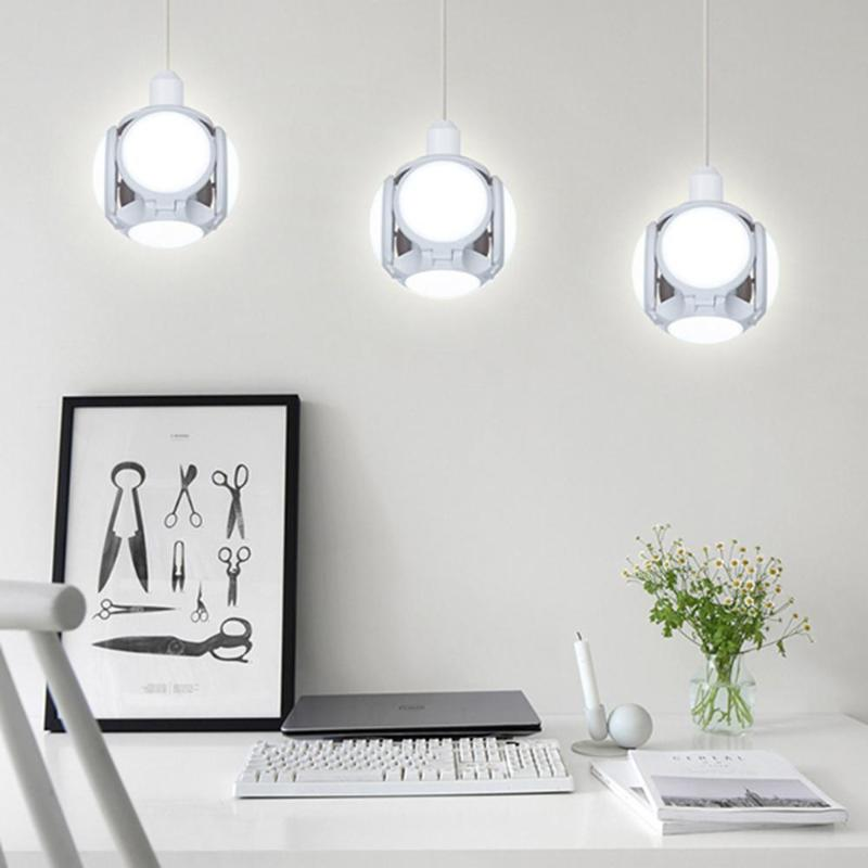 UFO E27 LED Bulb Lamp 40W Durable Long Life Overload Protection Deformable Football Shaped Home Bar Hall Ceiling Light
