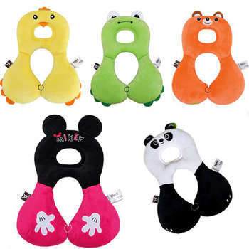Soft Baby Infant plush Animal Neck Protection Shape Pillow Safety Cute cartoon Travel Car Seat Children Toy Mobile Phone Case image
