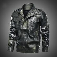 Jacket Coats Motorcycle Winter Velour Fashion Collar Retro Stand Windbreaker Washed Men