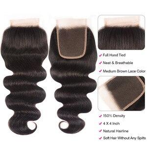 Image 3 - Unice Hair 4x4 PU إغلاق مزود بقاعدة من الحرير البرازيلي شعر مموج إغلاق الدانتيل الطبيعي الأسود ريمي الشعر البشري 10 18 Inch