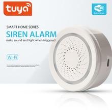 Alarma inalámbrica de luz de sonido WiFi de 100DB para el Sensor de sirena de seguridad del hogar SystemsTuya SmartLife APP compatible con Alexa Google IFTTT