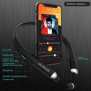 Image 5 - Amorno Wireless Bluetooth Earphones Stereo HD Talking Neckband Earbuds Sweatproof Headphone Fone De Ouvido Auriculares for Phone