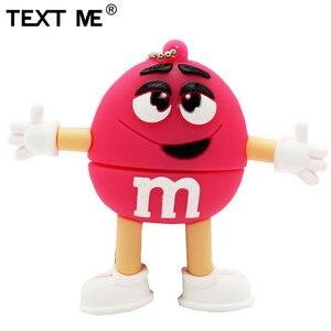 Image 4 - Usb флеш накопитель TEXT ME, 64 ГБ, красный, розовый, зеленый, синий, мультяшный M bean, usb 2,0, 4 ГБ, 8 ГБ, 16 ГБ, 32 ГБ, стандартный usb