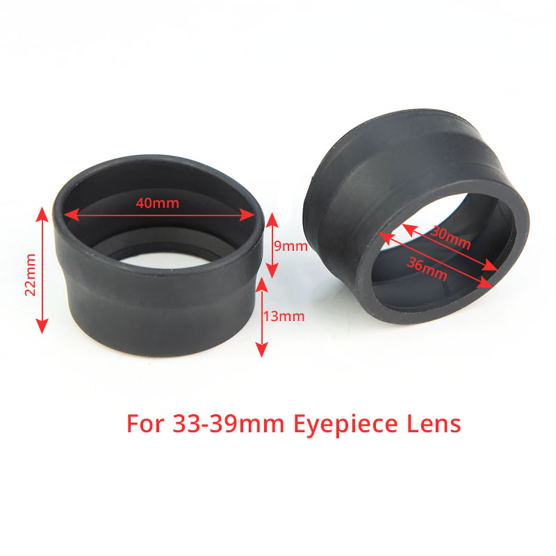 2pcs 33-38mm High Elasticity Rubber Eyepiece Eyecup Guard For 33-39mm Stereo Microscope Lens