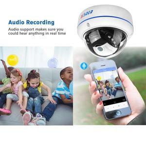 Image 2 - BESDER H.265 5MP 3MP 2MP Surveillance IP Camera Audio Internal Microphone Vandalproof  IR Night Dome Security Camera ONVIF P2P