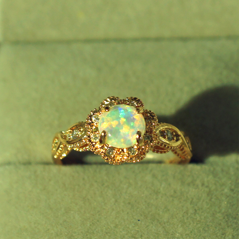 DODO gold color Fire Opal Rings For Women Jewelry Vintage Wedding Engagement Rings Anillos Anillos Drop Shipping DD303 (1)