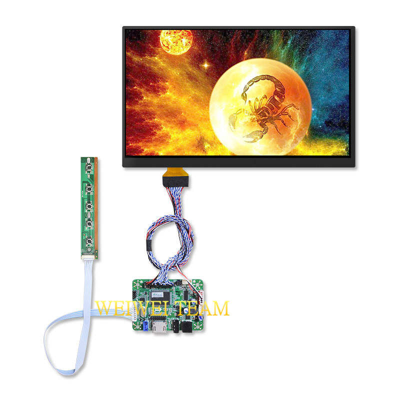 Wisecoco Fhd <font><b>1920x1080</b></font> 10.6 Inch LTL106HL01-001 LCD Screen <font><b>IPS</b></font> Display With LVDS <font><b>HDMI</b></font> Controller Board for Tablet Pad Replace image