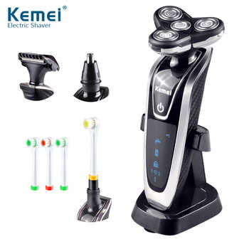 Kemei Electric Shaver 4D Floating Triple Blade Electric Razor Men Face Care Washable Rechargeable 4 In 1 Hair Trimmer 40D - DISCOUNT ITEM  42% OFF All Category