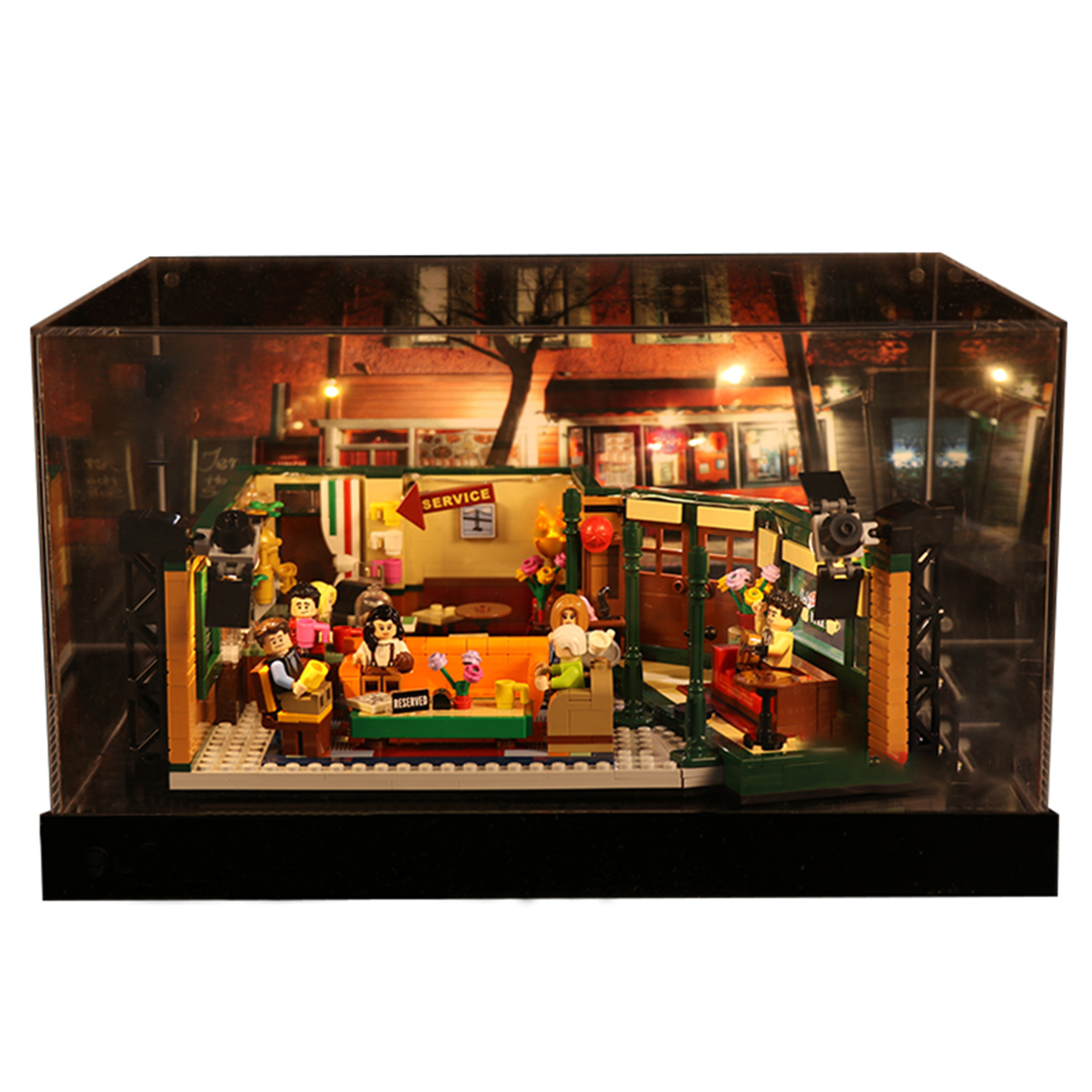 Building Block Acrylic Dustproof Display Box Show Box for 21319 Friends Coffee Shop Display Box Included Only- Type A