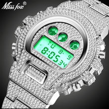 Baru MISSFOX G Kejutan Mens Watches Top Brand Mewah Digital Watch Pria Berlian Pria Jam Xfcs Classic Hip Hop es Keluar Watch(China)