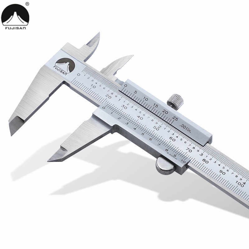 Pied coulisse à coulisse métallique, 0-150/200/300mm, 1/po, micromètre pouce/étrier métallique en acier inoxydable, Instrument de mesure à jauge coulissante