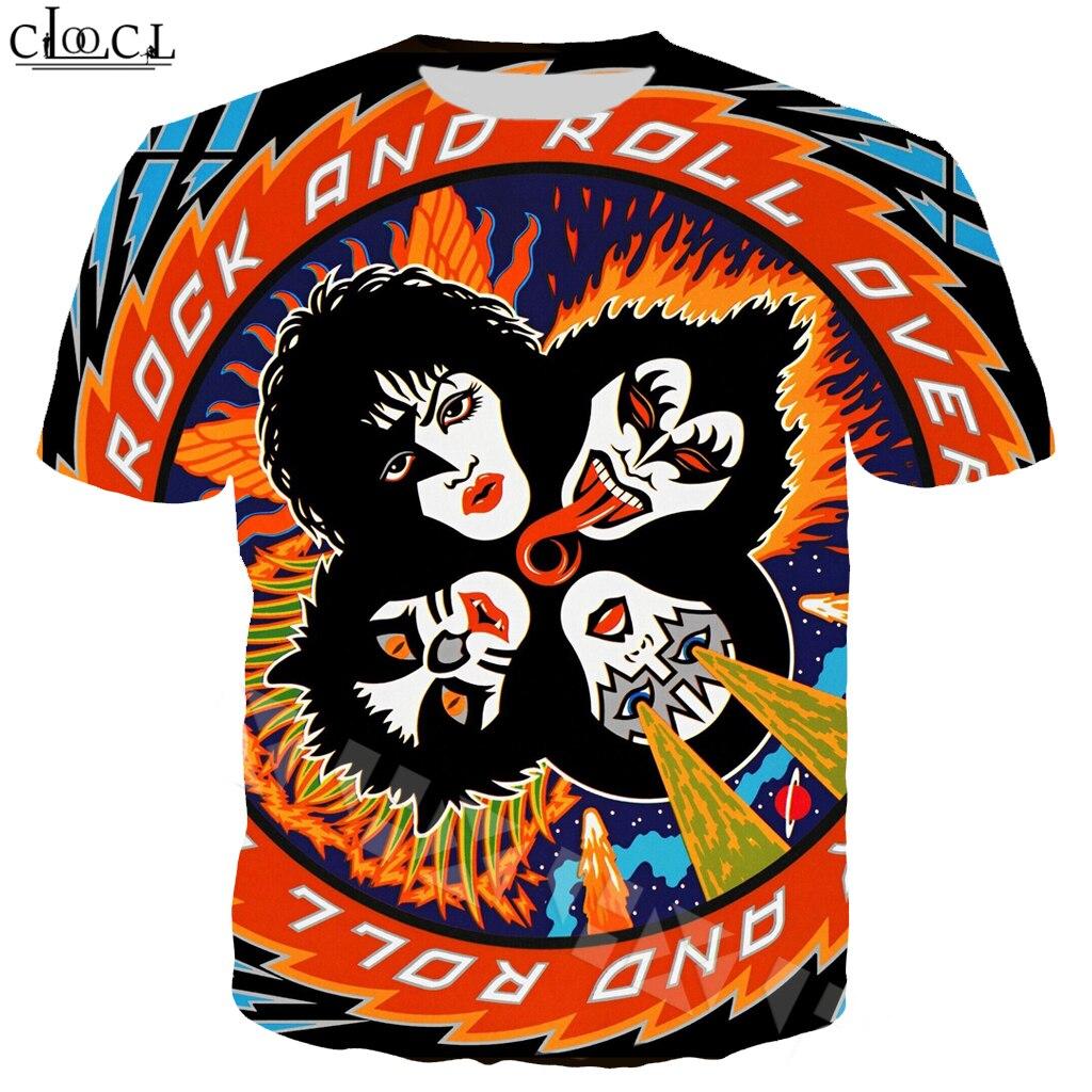 Rock Band KISS T Shirt Men/Women 3D Print Casual Fashion Short Sleeve T Shirt Streetwear Tops B21
