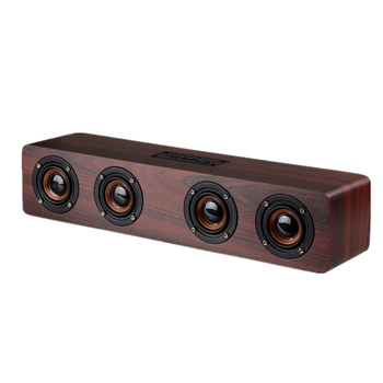 12W Hifi Bluetooth Speakers Wireless Stereo Subwoofer Speaker Wood Home Audio Desktop Speaker Handsfree Tf Sound Box