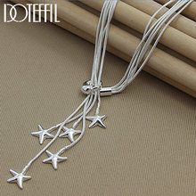 Doteffil серебро 925 пробы пять змей цепочка Морская звезда