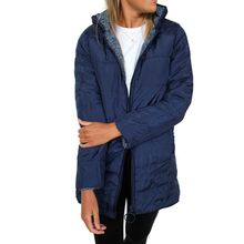 Women Winter Two-Way Hollow Cotton Reversible Coat Leopard Thicken Warm Pockets Zippered Hooded Cotton-Padded Jacket OverCoat zippered two tone hooded padded jacket