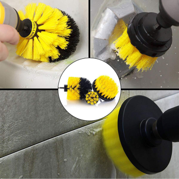 3pcs Power Scrubber Brush Set For Bathroom Drill Scrubber Brush For Cleaning Cordless Drill Attachment Kit Power Scrub Brush недорого