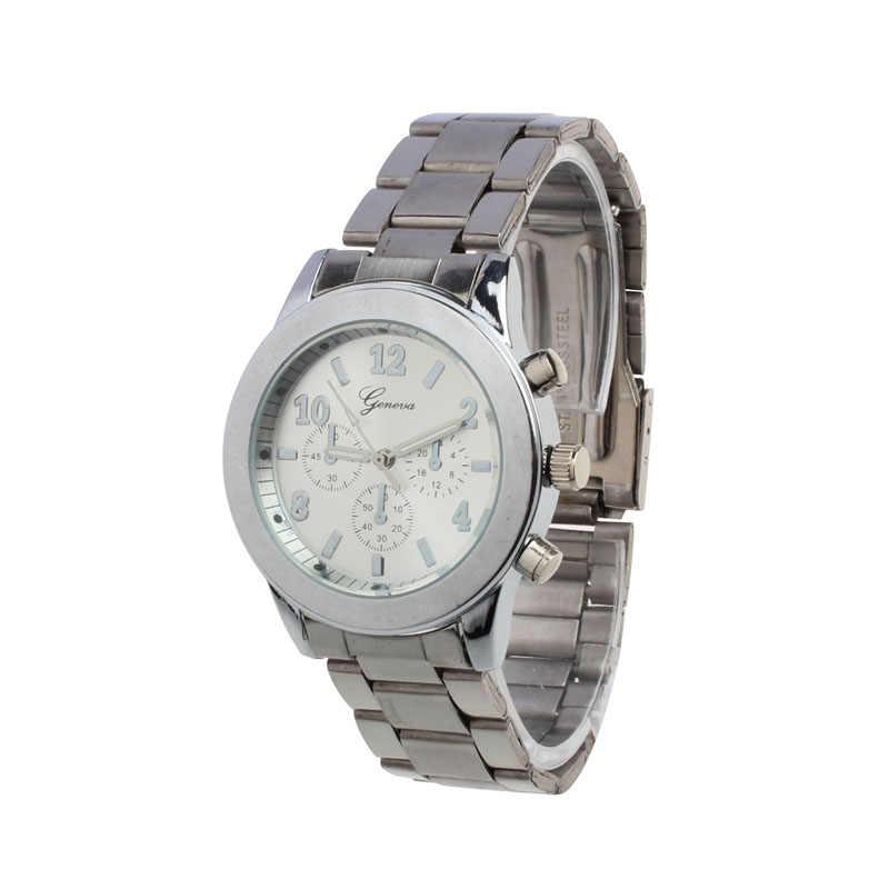 Nouveau genève dames femmes fille unisexe en acier inoxydable Quartz montre-bracelet femmes montre-bracelet Hodinky cadeaux Relogio Feminino horloge