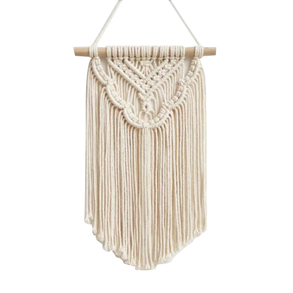 Nordic Macrame Woven Tapestry Boho Chic Bohemian Wall Hanging Home Decoration Crafts Cotton Rope Woven Indoor Art Room Decortion