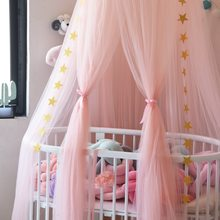 DROP SHIPPING Baby Bed Canopy Curtain Around Dome Mosquito Net Crib Netting Hanging Tent for Children Baby Room Decoration(China)