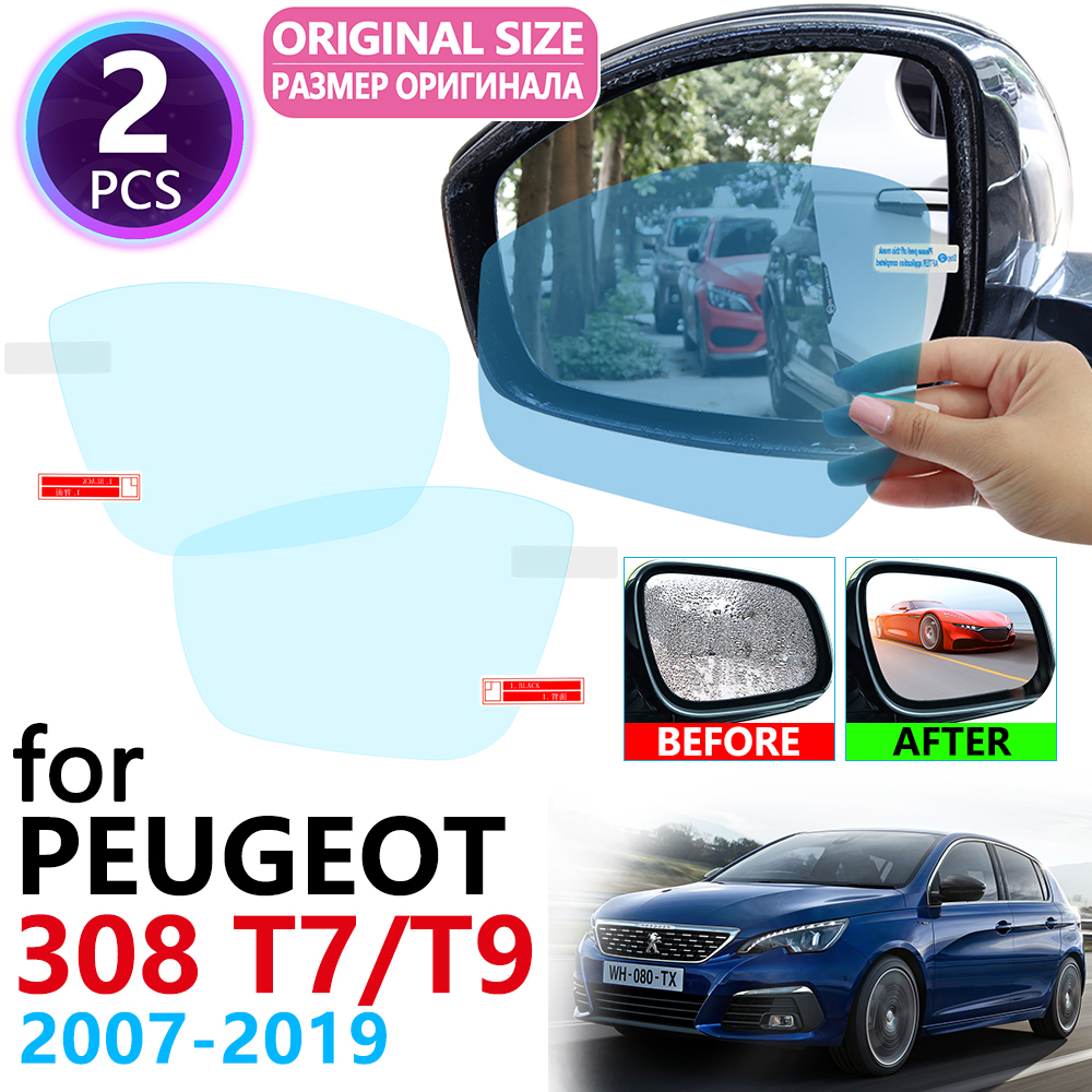For Peugeot 308 T7 T9 308cc 308sw 308gti 2007~2019 Full Cover Rearview Mirror Anti-Fog Rainproof Anti Fog Film Accessories 2015