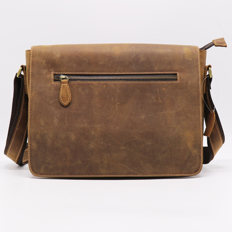 Crazy Horse Genuine Leather Hand Made Casual Men Messenger Bags Men s Cowhide Cross Body Shoulder