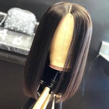 Short Bob wigs 4x4 Lace Closure Human Hair Wigs pre plucked For Black Women Brazilian Straight Hair For Black Women