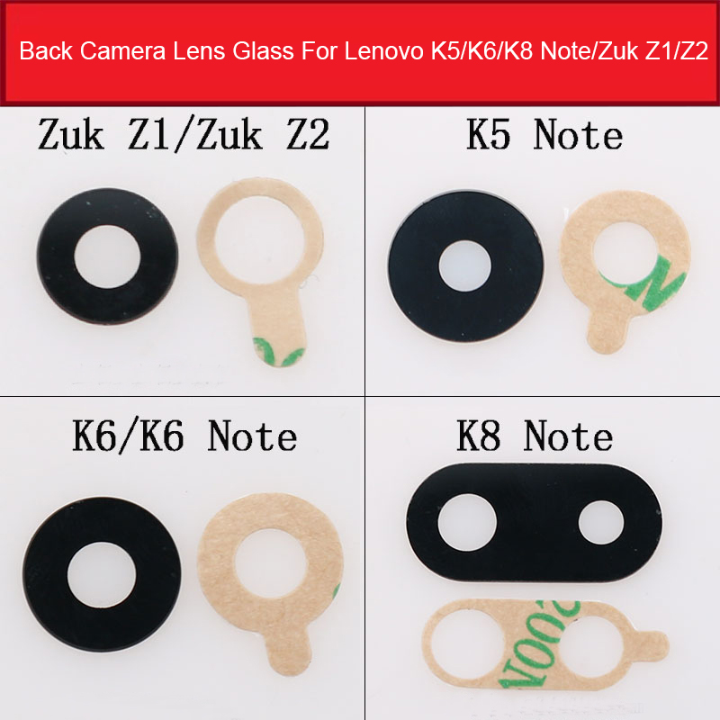 Back Camera Glass Lens Cover For Lenovo K5 K6 K8 Note ZUK Z1 Z2 Rear Camera Lens Cover + Adhesive Sticker Replacement Repair