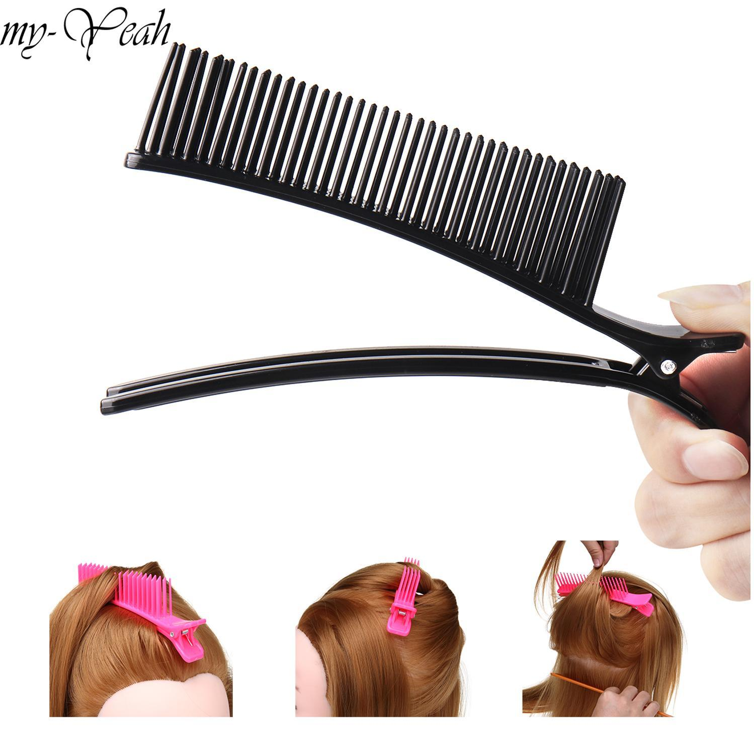 Professional Hair Grip Hairdressing Sectioning Cutting Clamps Clips Comb Salon Drying Perm Dyeing Hairstyling Tool
