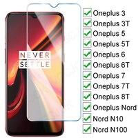 Protector de vidrio templado 9D para Oneplus 3 3T 5 5T 6 6T 7 7T 8T, Protector de pantalla 1 + 5 1 + 7T One Plus nord N10 N100, funda de vidrio