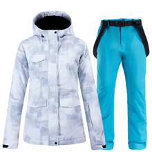 New Winter Ski Suit Women High Quality Jacket and Pants for Warm Waterproof Windproof Skiing Snowboarding Suits