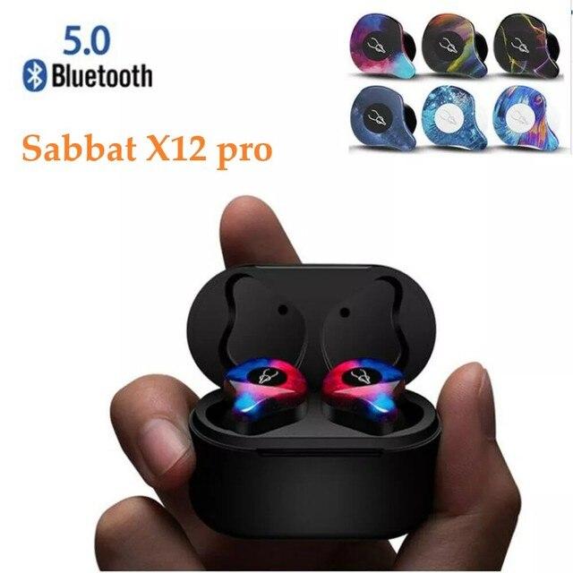Sabbat X12 פרו אלחוטי אוזניות Bluetooth 5.0 אוזניות ספורט Hifi אוזניות דיבורית אוזניות עמיד למים עבור סמסונג iPhone HuaWei